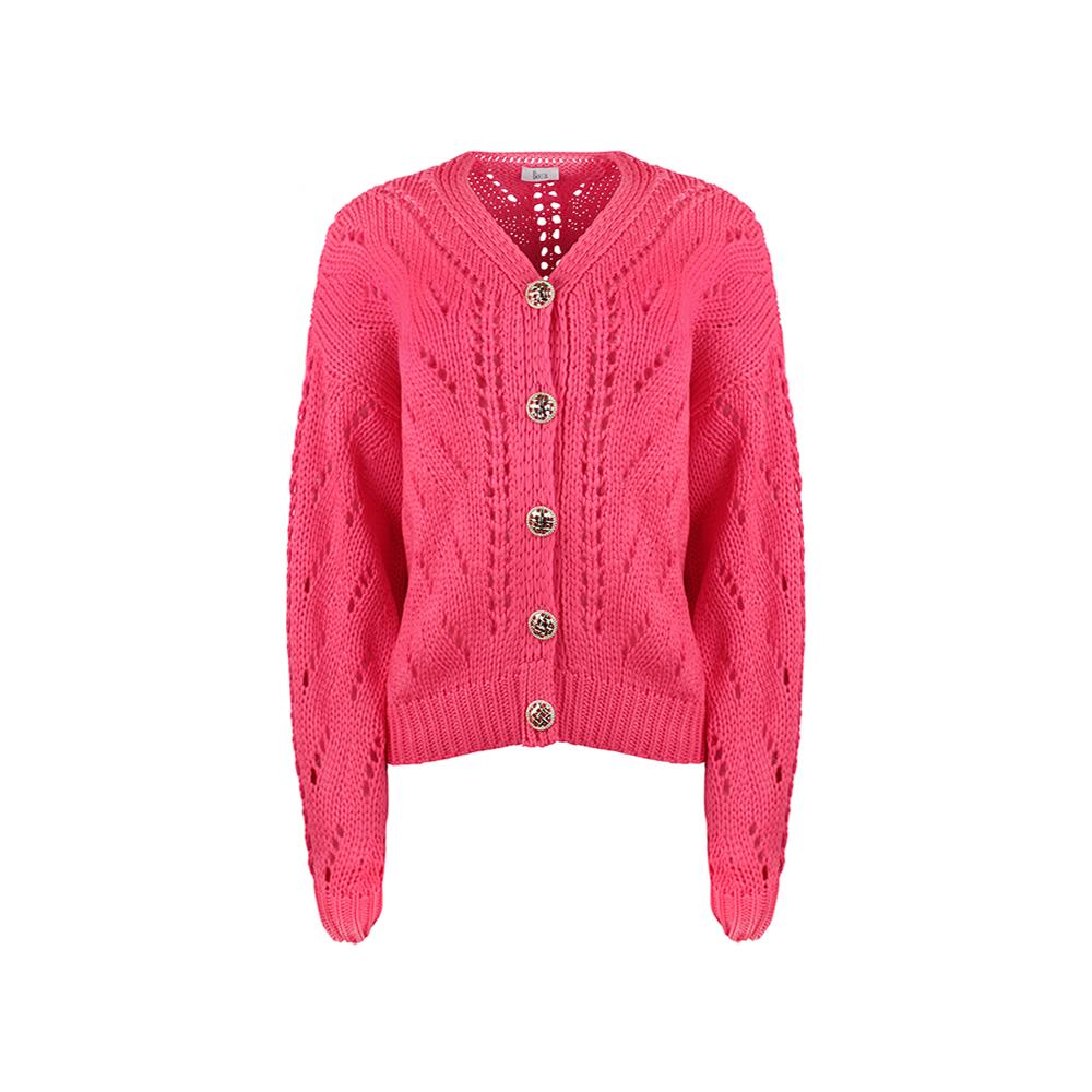 Sweterek Rozpinany Ażurowy